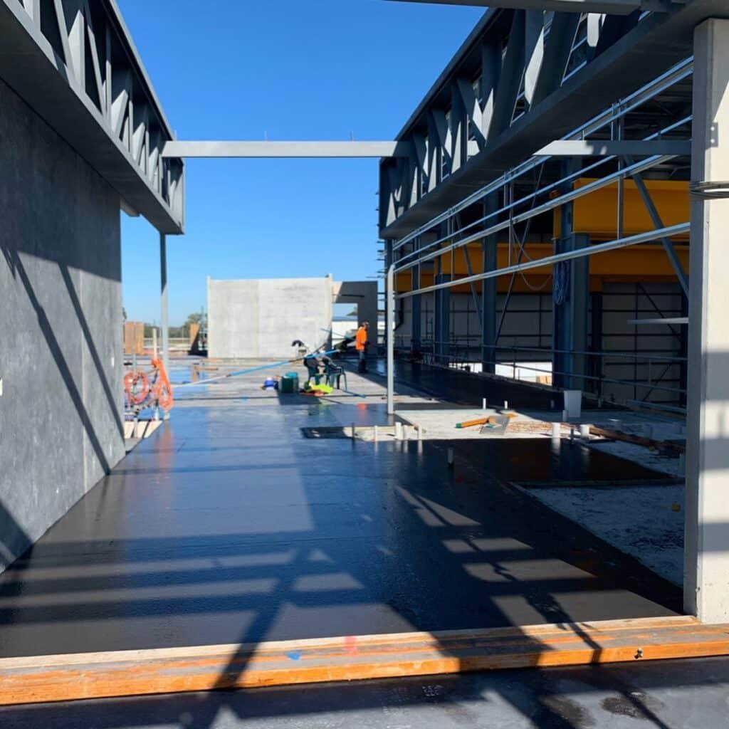 Wet Concrete Construction