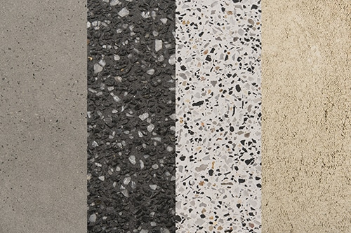 Concrete swatch collage