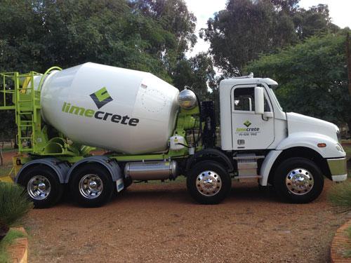 Limecrete concrete truck