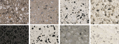 swatches of our concrete